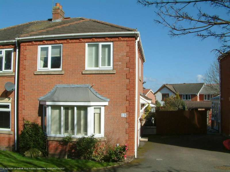 2 Bedrooms Semi Detached House for sale in Suffolk Way, Fazeley, B78 3XD