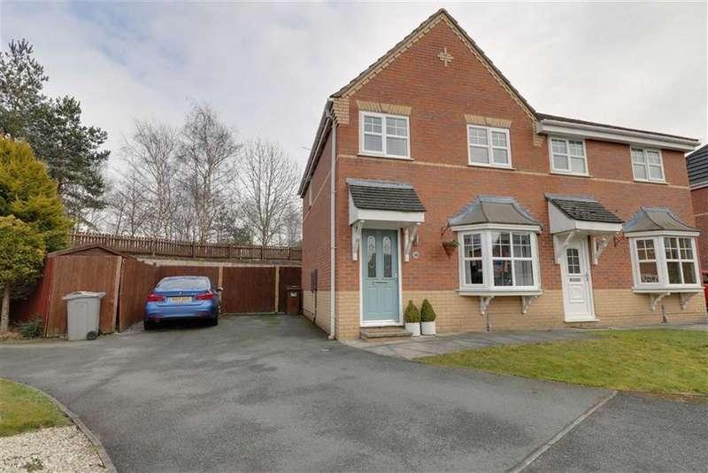 3 Bedrooms Semi Detached House for sale in Marlowe Close, Ettiley Heath, Sandabch