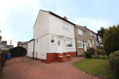 2 Bedrooms End Of Terrace House for sale in Tiverton Avenue, Glasgow, Lanarkshire