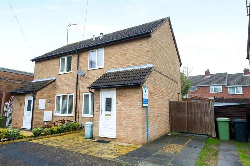 2 Bedrooms Semi Detached House for sale in Alington Close, Finedon, Wellingborough, Northamptonshire