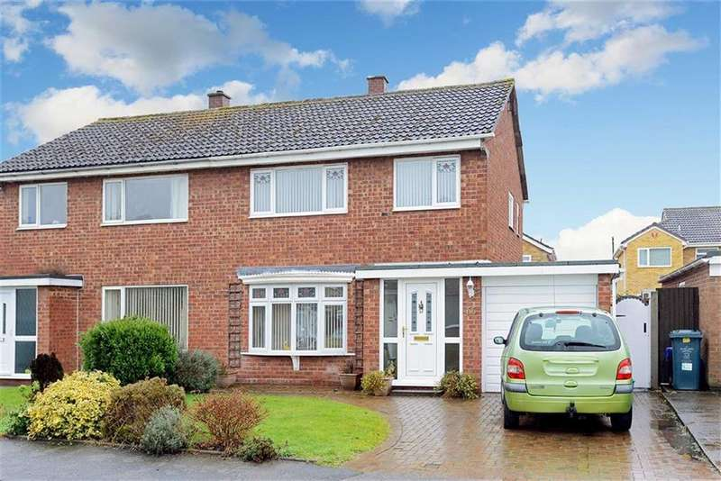 3 Bedrooms Semi Detached House for sale in Conway Drive, Telford Estate, Shrewsbury, Shropshire