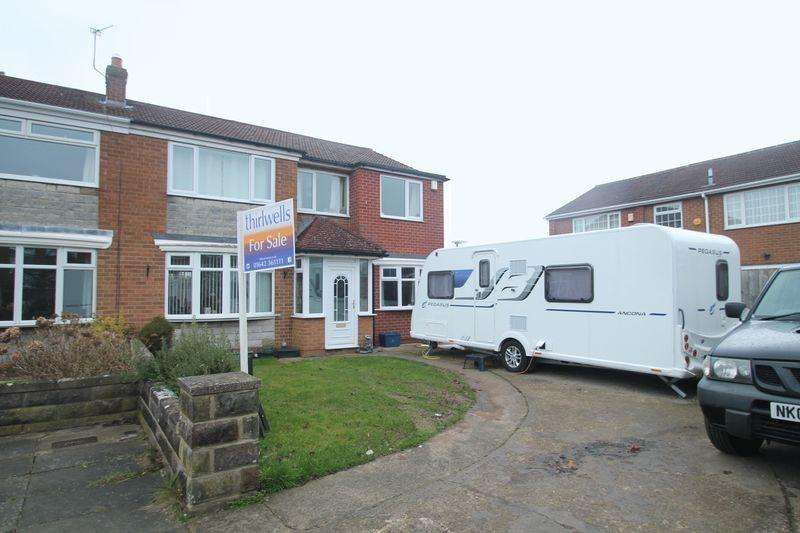 4 Bedrooms Semi Detached House for sale in Lutton Crescent, Billingham