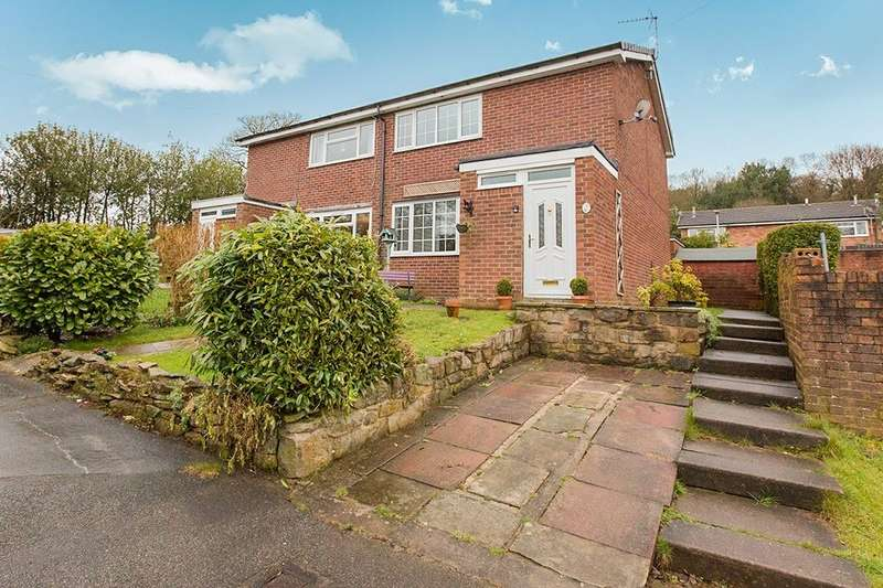 2 Bedrooms Semi Detached House for sale in Clare Street, Mow Cop, Stoke-On-Trent, ST7