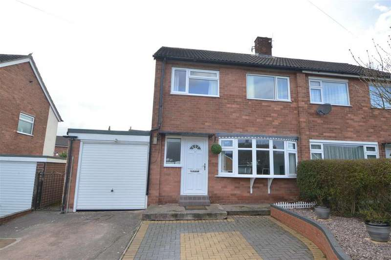 3 Bedrooms Semi Detached House for sale in 11 Hollies Drive, Bayston Hill, Shrewsbury SY3 0NN