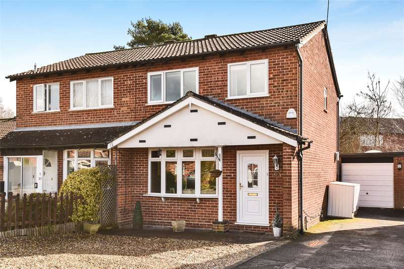3 Bedrooms Semi Detached House for sale in Merton Close, Owlsmoor, Sandhurst, Berkshire, GU47