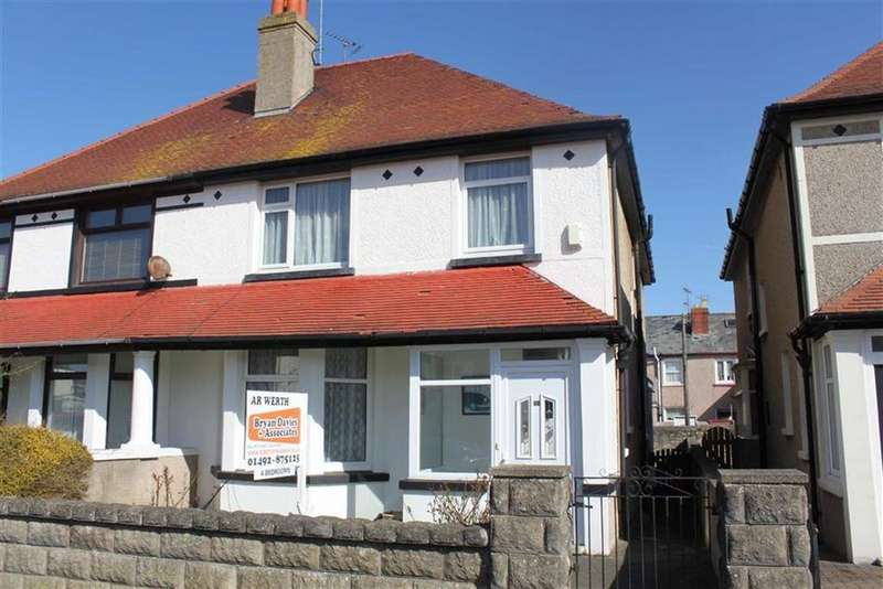 4 Bedrooms Semi Detached House for sale in Bryniau Road, West Shore, Llandudno, Conwy
