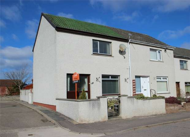 2 Bedrooms End Of Terrace House for sale in 48 Spynie Street, ELGIN, Moray