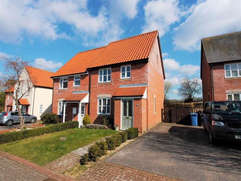 2 Bedrooms Semi Detached House for sale in Rotheram Road, Bildeston, Ipswich, Suffolk, IP7 7TQ