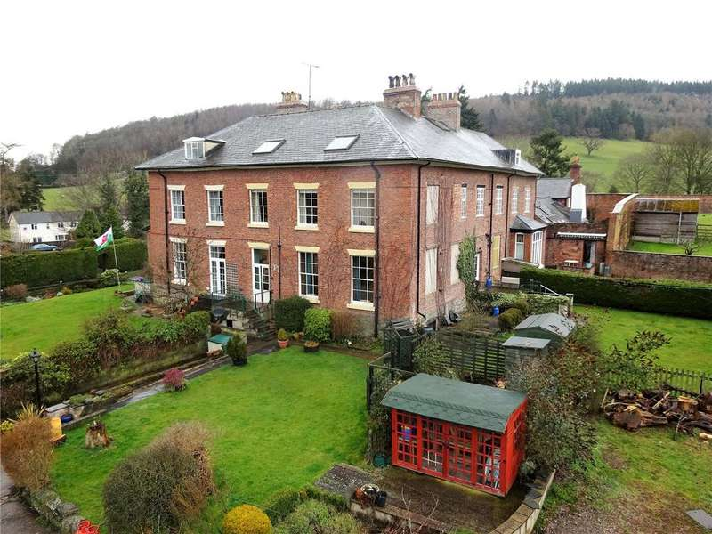 5 Bedrooms Semi Detached House for sale in Aberhafesp Hall, Aberhafesp, Newtown, Powys