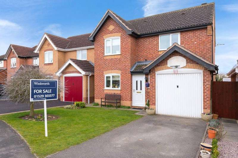 4 Bedrooms Detached House for sale in Hollowbrook Close, Ruskington, Sleaford, Lincolnshire, NG34