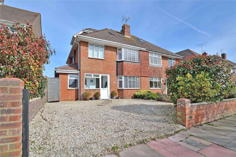 4 Bedrooms Semi Detached House for sale in Alinora Avenue, Goring By Sea, Worthing, BN12