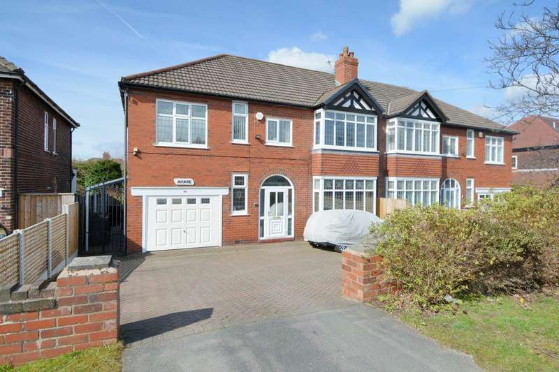 4 Bedrooms Semi Detached House for sale in Macclesfield Road, Hazel Grove, Stockport, SK7 6BE