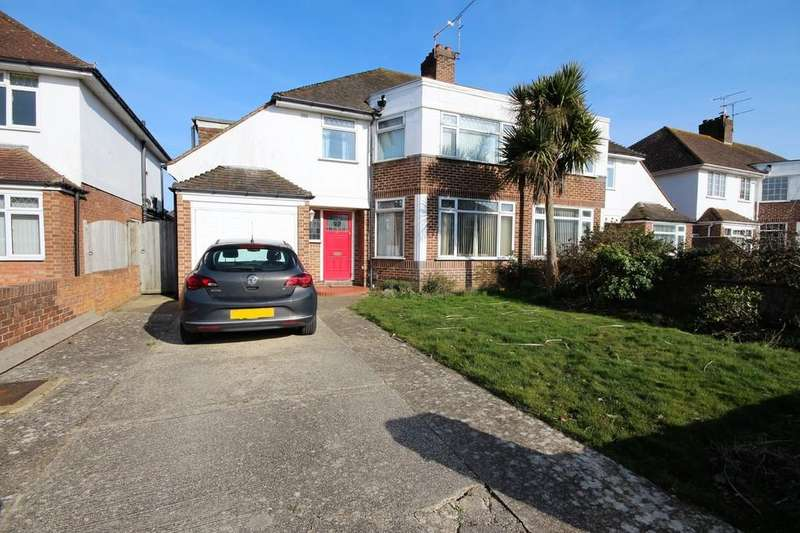 4 Bedrooms Semi Detached House for sale in Rosebery Avenue, Goring-by-sea, Worthing BN12 4EU