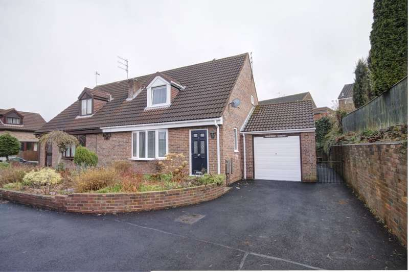 2 Bedrooms Semi Detached Bungalow for sale in Ashfield Court Benfieldside Road, Consett, DH8