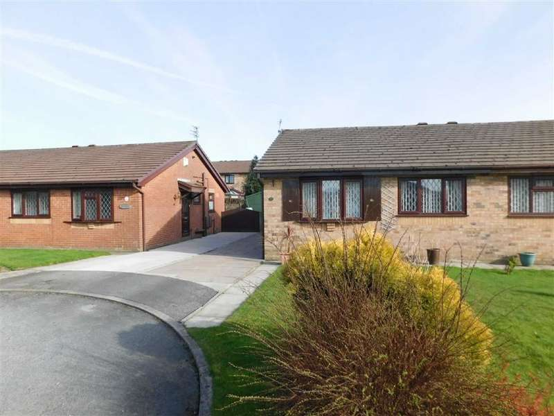 2 Bedrooms Semi Detached Bungalow for sale in Redwood Drive, Bredbury, Stockport