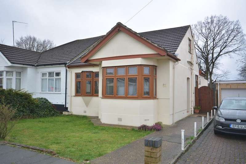 2 Bedrooms Semi Detached Bungalow for sale in Woodhall Crescent, Hornchurch RM11