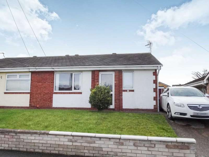 2 Bedrooms Semi Detached Bungalow for sale in Carlton Way, Rhyl