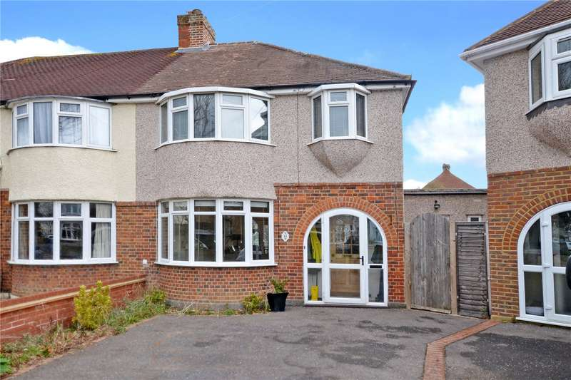 3 Bedrooms Semi Detached House for sale in Hill Crescent, Worcester Park, KT4