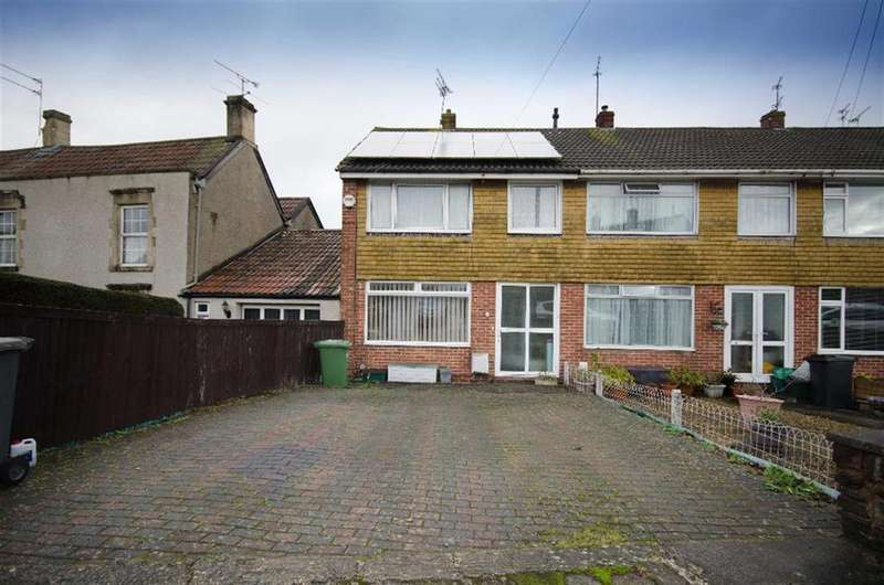3 Bedrooms End Of Terrace House for sale in Salisbury Road, Downend, Bristol, BS16 5RG