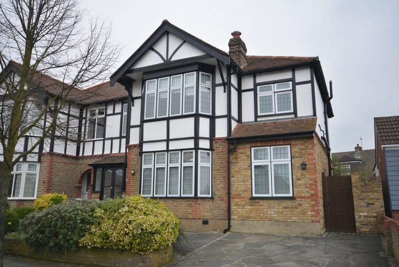 4 Bedrooms Semi Detached House for sale in Ashmour Gardens, Rise Park, Romford RM1