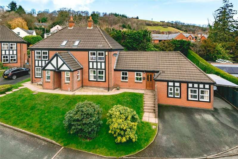 4 Bedrooms Detached House for sale in Dolerw Park Drive, Newtown, Powys