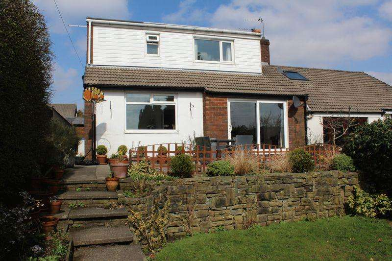 3 Bedrooms Semi Detached Bungalow for sale in Newfield View, Milnrow, Rochdale, OL16 3DS