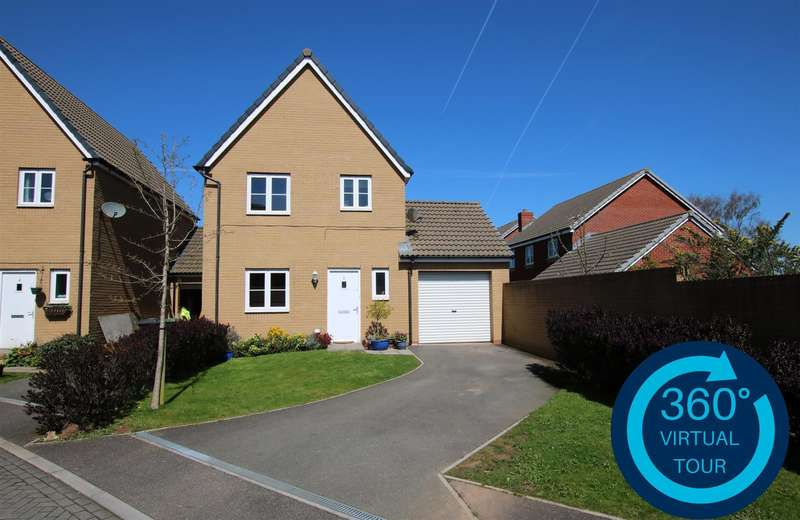 3 Bedrooms Link Detached House for sale in Rhode Island Drive, The Rydons, Exeter