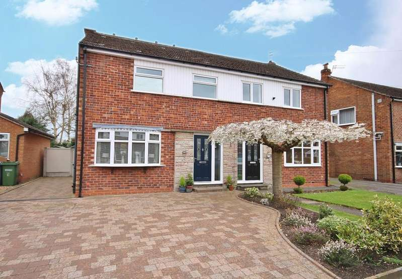 4 Bedrooms Semi Detached House for sale in Newlands Drive, Wilmslow