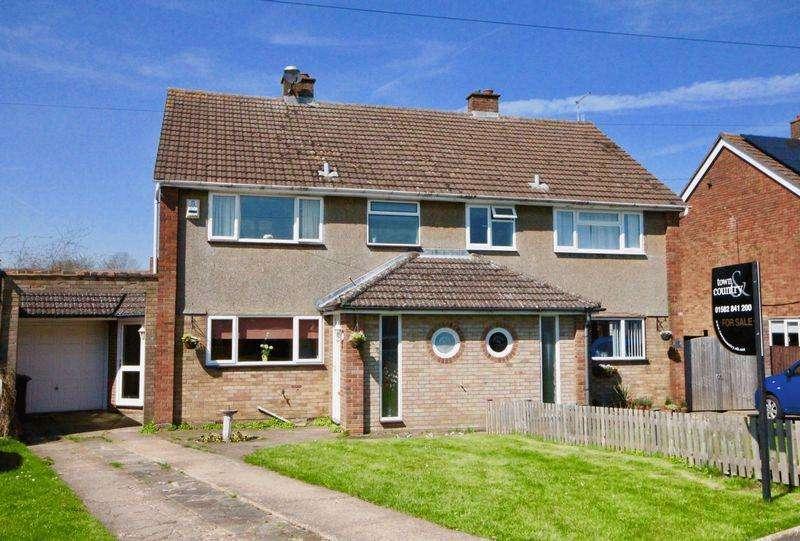 3 Bedrooms Semi Detached House for sale in Five Oaks, Caddington **** Extended Garage/Workshop ****