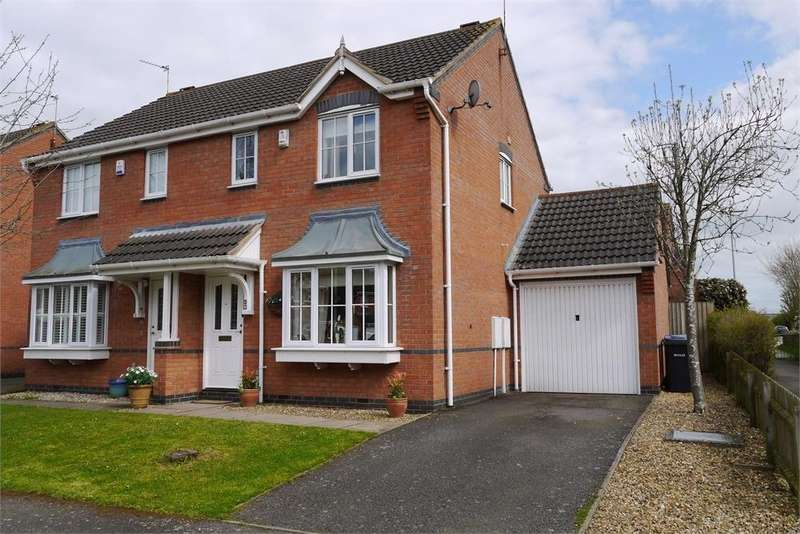 3 Bedrooms Semi Detached House for sale in Gale Close, Lutterworth, Leicestershire