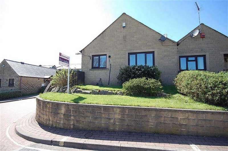 2 Bedrooms Terraced Bungalow for sale in Bradley View, Holywell Green, Halifax, HX4