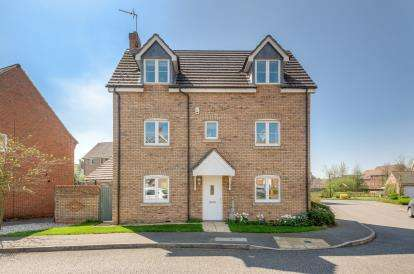 4 Bedrooms Detached House for sale in Harewelle Way, Harrold, Bedford, Bedfordshire