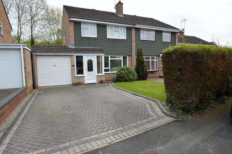 3 Bedrooms Semi Detached House for sale in Ansley Close, Matchborough East, Redditch