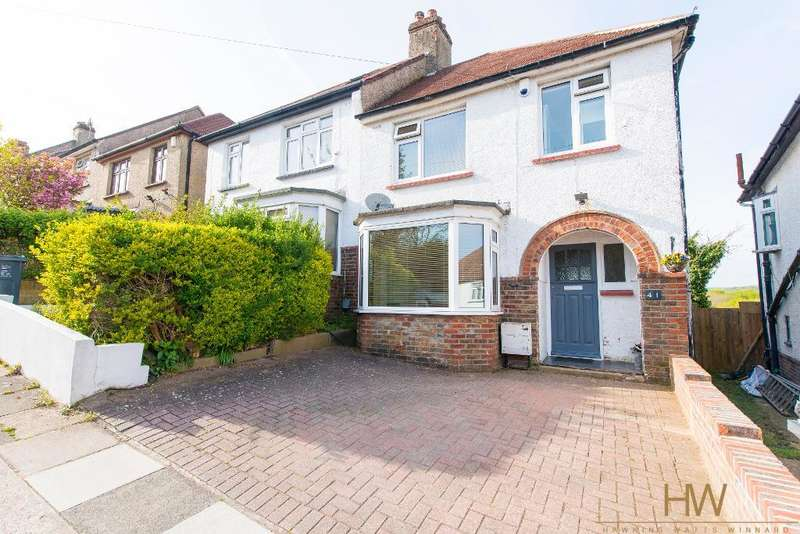 3 Bedrooms Semi Detached House for sale in Sharpthorne Crescent, Portslade, East Sussex, BN41 2DP