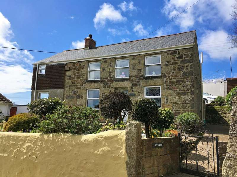 3 Bedrooms Detached House for sale in Eglos Road, Ludgvan TR20