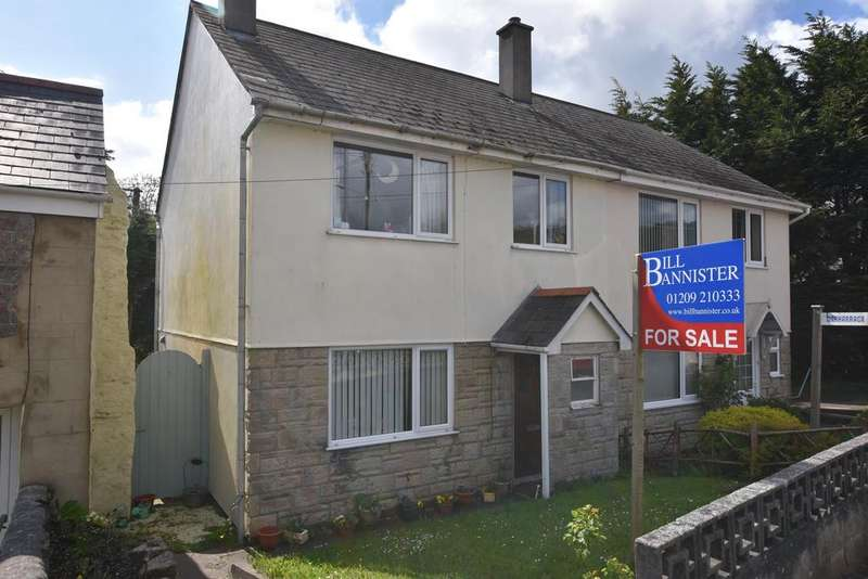 3 Bedrooms Semi Detached House for sale in Church Row, Carharrack, Redruth TR16