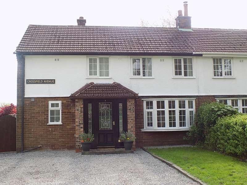 4 Bedrooms Semi Detached House for sale in Crossfield Avenue, Culcheth, Warrington, WA3