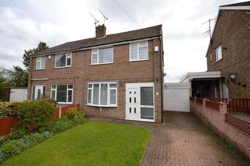 3 Bedrooms Semi Detached House for sale in Dale Close, Stonebroom, Alfreton, DE55