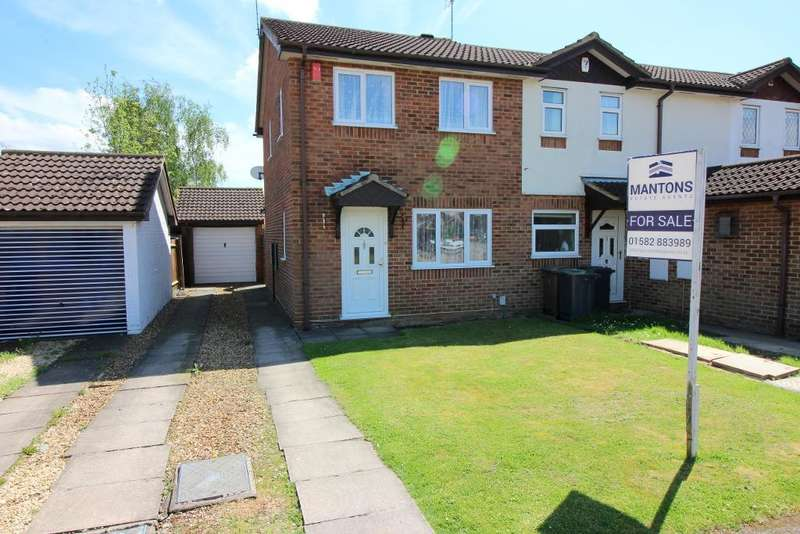 2 Bedrooms End Of Terrace House for sale in Harlestone Close, Luton, Bedfordshire, LU3 4DW