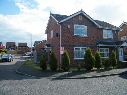 2 Bedrooms Semi Detached House for sale in Kestrel Drive, Crewe, Cheshire
