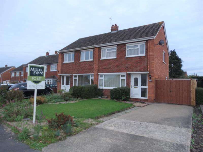 3 Bedrooms Semi Detached House for rent in 175 Sutton Road, Sutton Farm, Shrewsbury, SY2 6QU