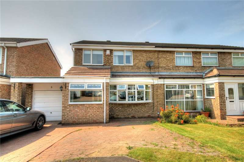3 Bedrooms Semi Detached House for sale in Wensley Close, Ouston, Chester Le Street, DH2