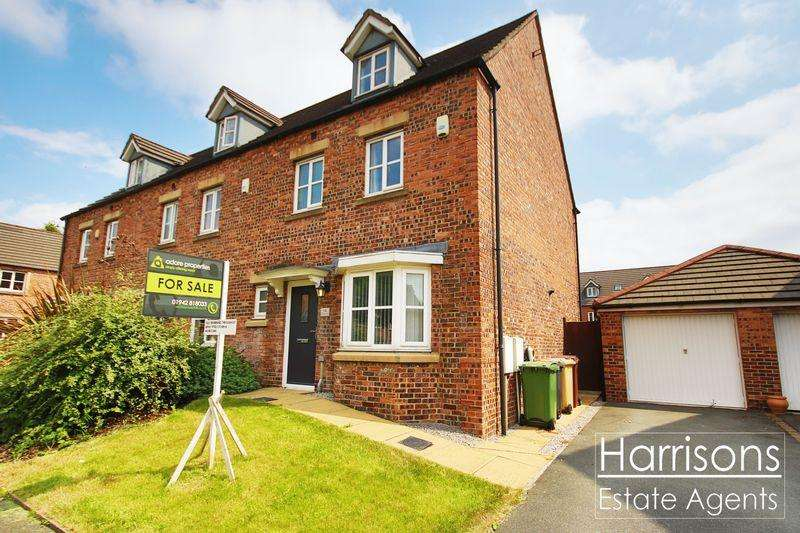 4 Bedrooms Semi Detached House for sale in Anderby Walk, Westhoughton, Bolton, Lancashire.