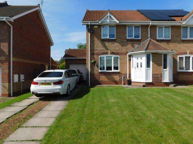 3 Bedrooms Semi Detached House for sale in OAKWOOD, COXHOE, DURHAM CITY : VILLAGES EAST OF