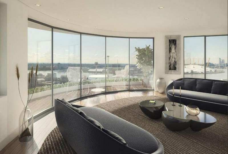 2 Bedrooms Flat for sale in Thameside House, Royal Wharf, London, E16