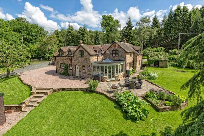 4 Bedrooms Detached House for sale in The Crossroads, Cross Roads, Farlow, Shropshire, DY14