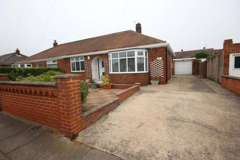 2 Bedrooms Semi Detached Bungalow for sale in Tynebrooke Avenue, Brooke Estate, Hartlepool