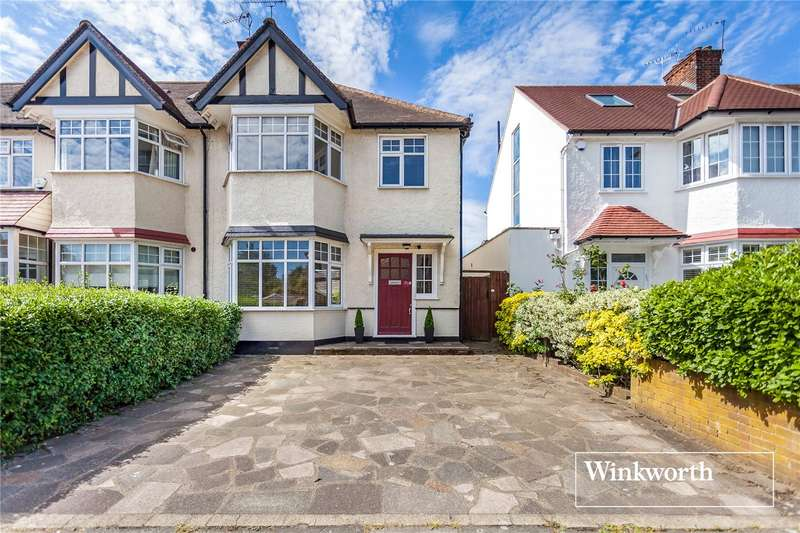 3 Bedrooms End Of Terrace House for sale in Cadogan Gardens, Finchley, London, N3