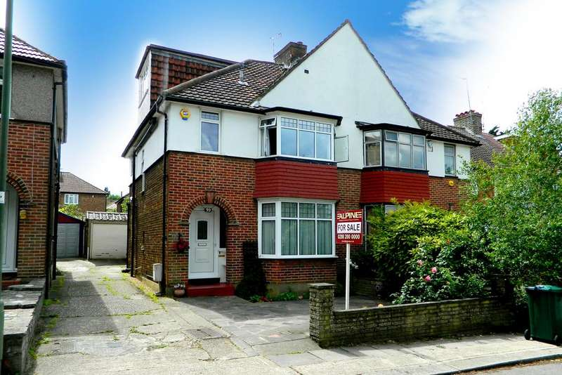 4 Bedrooms Semi Detached House for sale in Court Way, London NW9