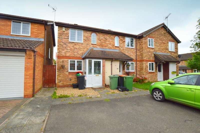 2 Bedrooms End Of Terrace House for sale in Furze Close, Bushmead, Luton, LU2 7UB